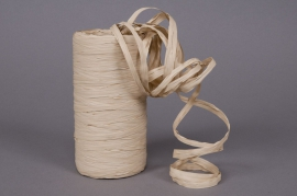 Roll of synthetic raffia light brown 200m