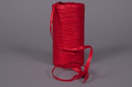 Roll of synthetic raffia red 200m