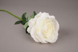 x030jp Rose artificielle blanche H70cm