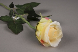 x375di Rose artificielle jaune H55cm