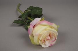 x378di Rose artificielle rose H55cm