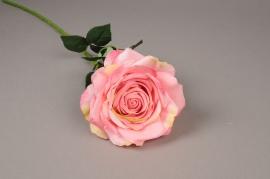 x045jp Rose artificielle rose H70cm