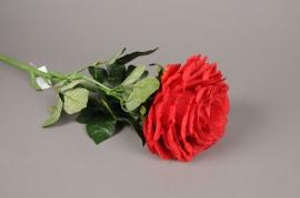 x374mi Rose artificielle rouge H70cm