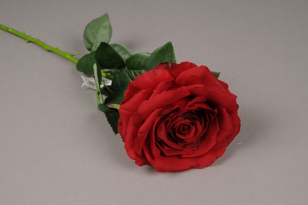 x028jp Rose artificielle rouge H70cm