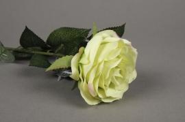 x474nn Rose artificielle verte H64cm