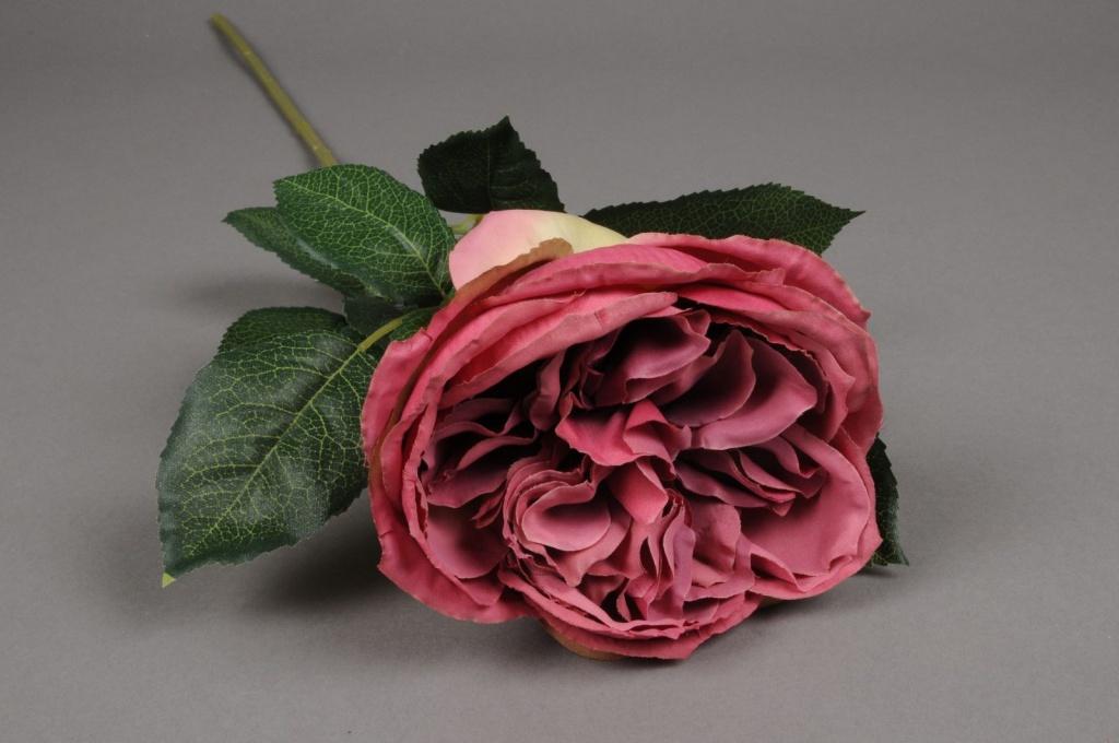rose artificielle vieux rose h70cm. Black Bedroom Furniture Sets. Home Design Ideas