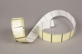 A003AI Rouleau de 1000 étiquettes blanc 3.5 x 3.5cm