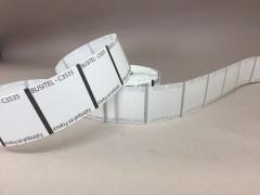 A005AI Rouleau de 1000 étiquettes transparent 3.5 x 3.5cm