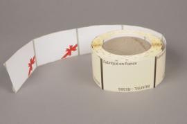 A009AI Rouleau de 250 étiquettes blanc 8.5 x 5.5cm