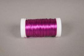 A172MG Rouleau de fil de fer fuchsia  D0,05mm L50m