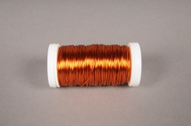 A015MG Rouleau de fil de fer orange  D0,05mm L50m