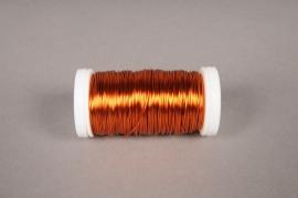 A015MG Rouleau de fil de fer orange  D0,05mm L50m