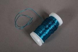 A021MG Rouleau de fil de fer turquoise 0,5mm 100gr 50m