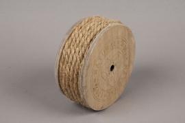 x054wg Rouleau de fil de jute naturel 8mm x 7m