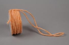 B154VQ Rouleau de fil de laine orange 35m