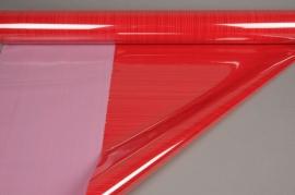 A910QX Rouleau de gaine cellophane rouge 80cmx50m