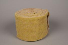 A144VQ Rouleau de laine jaune et marron 15cm x 5m