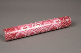 A810GM Rouleau de non tissé coeur rouge rose 30cm x 5m