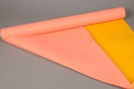 A403QX Rouleau de papier kraft corail / jaune 0,8x50m