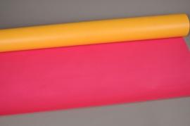 A636R7 Rouleau de papier kraft jaune / fuchsia 80cm x 50m