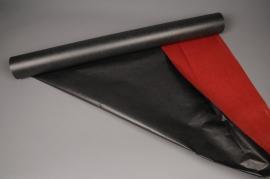A131QX Rouleau de papier kraft noir/ rouge 80cm x 50m