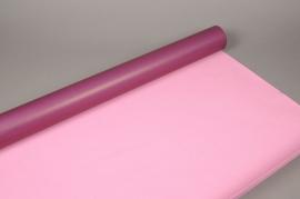 A132QX Rouleau de papier kraft prune / rose 80cm x 50m