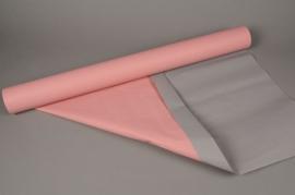 A411QX Rouleau de papier kraft rose / taupe 0,8cm x 50m