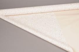 A261BD Rouleau de papier mat roses coeurs taupe 80cm x 40m
