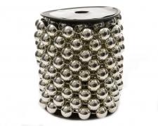 X706KI Rouleau de perles argent 14mm x 5m