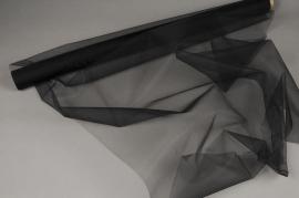 A016GM Rouleau de tulle noir 75cm x 10m