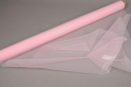 A796GM Rouleau de tulle rose 0,75cm x 10m