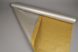 X007QX Double sided kraft paper roll gold / silver 0,8x40m 60g