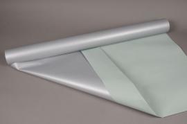 Rouleau kraft double-face vert d'eau / argent 80cm x 40m 60g