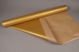 X014QX Rouleau papier kraft or 80cm x 40m