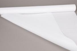 A517UN Rouleaux de tissu lin blanc 70cm x 4.5m