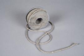 Ruban corde taupe 6mm x 20m