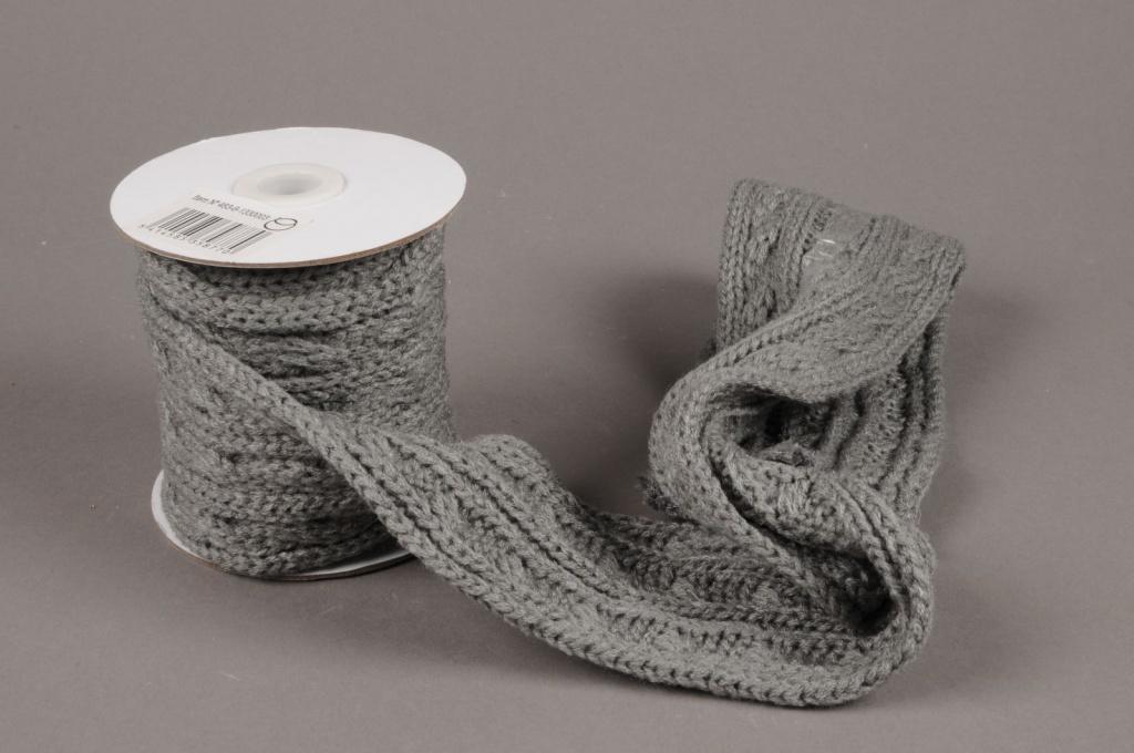 X003HX Ruban de laine gris 8cm x 2m20