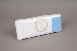 A043GM Ruban de tulle blanc coeur 10cm x 40m