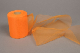 A181GM Ruban de tulle grillage orange 10cm x 40m