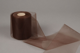 A343GM Brown tulle ribbon 10cm x 40m