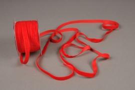 A455EC Ruban de velours rouge 10mm x 20m