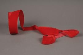 X038EC Ruban de velours rouge 40mm x 10m