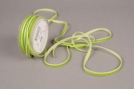 A474EC Ruban de velours vert 6mm x 20m