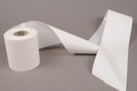 A020AI White bereavement ribbon 100mm x 50m