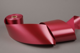 A022AI Burgundy bereavement ribbon 100mm x 50m