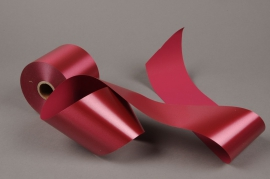 A015AI Burgundy bereavement ribbon 75mm x 50m