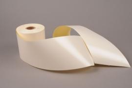 A021AI Ivory bereavement ribbon 100mm x 50m