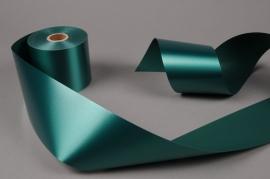 A017AI Ruban deuil vert sapin 75mm x 50m