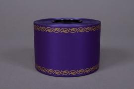 Rubbon bereavement purple 75mmx50m