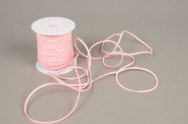 A528UN Ruban en cuir rose 3mm x 45m